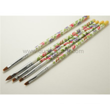 Plastic Handle 5PCS Nail Art Brush Set