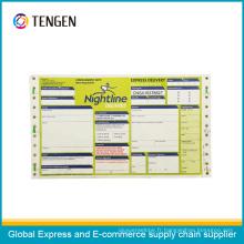 Impression personnalisée Carte logistique de code à barres logistique postale