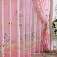 Protección UV conejo de conejo impreso cortinas de dibujos animados de la ventana