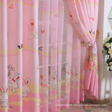 UV Protection Bunny Rabbit Printed Cartoon Window Curtains