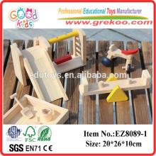 Brinquedos de brinquedos de madeira de brinquedo de brinquedo pré-jogo
