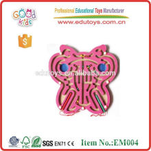 OEM Indoor Magnetic Maze Toy Butterfly / Bee / Cock / Panda / Number / Fish