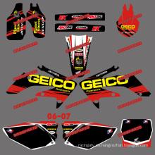 Pegatinas de moto de cross y pegatinas de motocicleta y motocross para motocicleta Honda Crf250r Crf250 2006 2007 (DST0157)