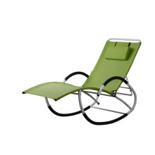 China for China Sun Loungers,Garden Sun Loungers,Folding Sun Loungers,Outdoor Sun Loungers Manufacturer and Supplier Adjustable steel G  chair rocking export to Kazakhstan Wholesale