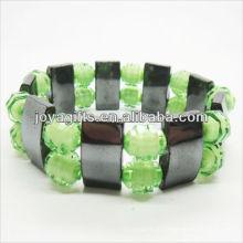 01B5009-4 / novos produtos para 2013 / hematita spacer pulseira de jóias / bracelete de hematita / pulseiras de saúde hematita magnética