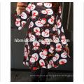 Moda mamãe me boneco de neve impresso mãe menina vestido família olhar correspondência roupas natal mãe filha vestidos