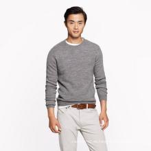 Suéter 100% de la cachemira de los hombres estilo básico suéter que hace punto de la cachemira pura de la cachemira que basa el suéter de la camisa