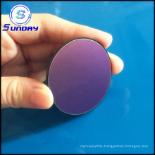 Round Optical Glass Color Filter Long Pass 420nm UV Cutoff