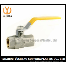 Brass Ball Valve Nickel Plated with Iron Handle (YS1013)