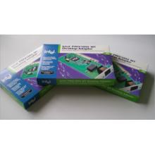 Caixa de papel de cartão de impressão personalizada para embalagem do adaptador