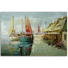 Decorativo Decorativo pintado a mano paisaje pintura al óleo sobre lienzo