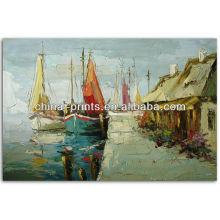 Impressional Pintura a óleo pintada à mão decorativa da paisagem na lona