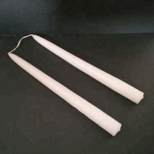 Smokeless Hand Bipped Wick Linked Ivory Taper Candles
