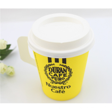 Cheap Single Wall Disposable Coffee Paper Cup with Handle