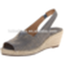 Forme populaire de poisson en forme de tissu de coton chaussures sandales été