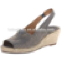 Популярные стиль рыбы формы хлопчатобумажной ткани женщин обуви сандалии летом