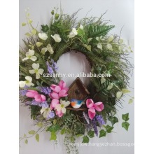 Easter outdoor decoration artificial easter lily flower wreath