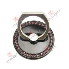 Negro Metal reutilizables anillo de dedo del coche montaje teléfono titular (pH)