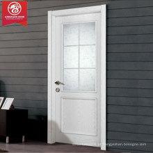 Portas de materiais compostos, portas de vidro de madeira branca com design de churrasqueiras francesas