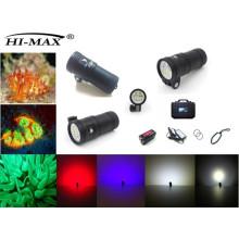 Патент Hi-max UV9 Магнитный выключатель IP68 120 Угол обзора Видео Дайв-свет