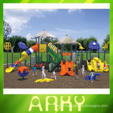 2015 New Design Grent Kids Plastic Sliding Outdoor Playground