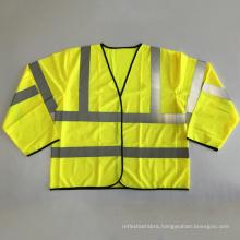 Long sleeve reflective safety vest EN 20471 ANSI 107 class 3