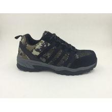 Deportivo estilo tela seguridad trabajo zapatos con puntera de Composite (16041)