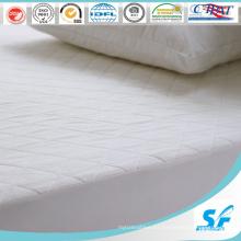 Protector acolchado de colchón de ganso acolchado blanco hipoalergénico