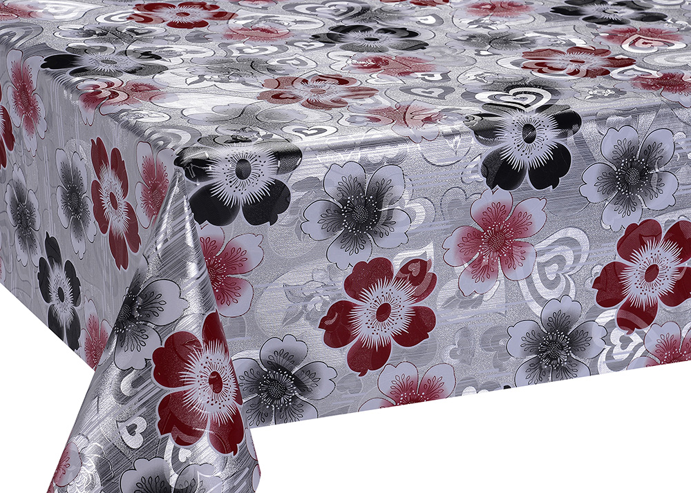 Printed Silver Gold Emboss Tablecloth