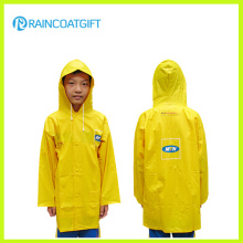 Impermeável amarelo PVC Childrens Rainwear