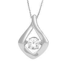 925 Sterling Silver Jewelry Dancing Diamond Pendants