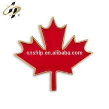 Atacado presente esmalte vermelho personalizado canadense Maple Leaf lapela Pin
