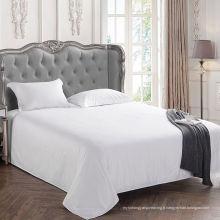Feuille plate blanche plaine pour le linge de lit d'hôtel (WSFS-2016005)