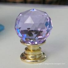 Bouton en cristal violet pour rangement de bijoux et coffret cadeau