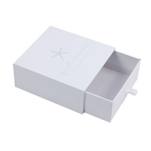 China Supplier Custom Logo Rigid Cardboard Sliding Drawer Box Fancy Gift Box For Jewelry Necklace Bracelet Pull Out Paper Box
