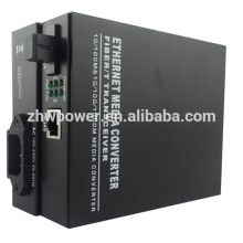 10/100/1000M Single Mode Single Fiber Media Converter , optical media converter with SC LC FC ST connector