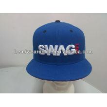 Chapéus bordados do snapback do bordado / tampões do snapback do bordado 3D / chapéus lisos do snapbcrim da borda
