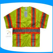 100% polyester mesh tissu ignifuge veste de sécurité classe 3