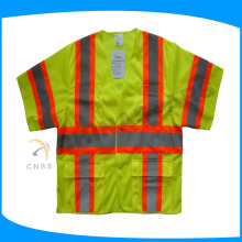 100% polyester mesh fabric flame retardant safety vest class 3