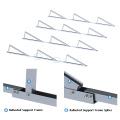 Grid tied flat roof adjustable tilt solar panel mounting system