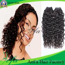 Extensão indiana não processada do cabelo humano de Remy do cabelo do Virgin da categoria 7A