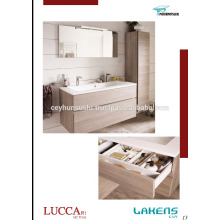 2017 New Design Self-Handle Bathroom Vanity with Various Color and High Pantry Cabinet