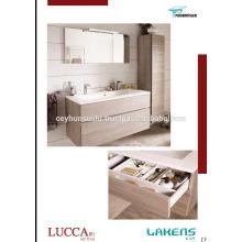 2017 Новый Собственн-обрабатывать Тщеты ванной комнаты конструкции с различным цветом и высокой кладовая шкаф