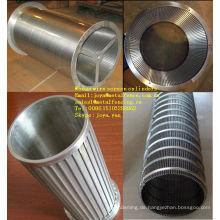 Kreisel mit Flüssigkeit / Feststoff Trennkeil Siebdruckzylinder