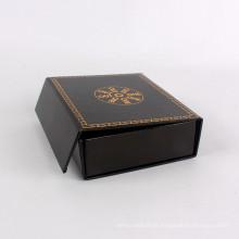 Caixa de papel plana reta dobrável Embalagem de presente com magnético