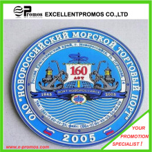Logotipo de estilo de moda impreso PVC suave Coaster (EP-PC55516)