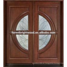 Diseño de puerta de entrada de cristal oval