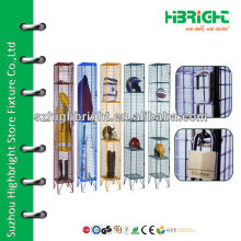 Colored wire mesh lockers