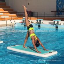Estera flotante inflable de la yoga del deporte acuático AQUA estera de la aptitud