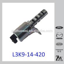 Excelente ensamblaje de válvula de control de aceite de sincronización de leva para Mazda L3K9-14-420